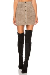 Bb Dakota Jack By Callister Faux Suede Mini Skirt Gray