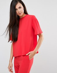 Finders Keepers Red Eyes Tunic Top Poppy