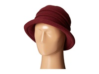 Scala Packable Wool Felt Cloche Wine Caps Burgundy