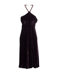 Swap Inside Knee Length Dresses Dark Purple