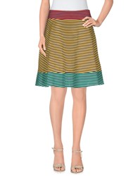 Harvey Faircloth Skirts Knee Length Skirts Women Yellow