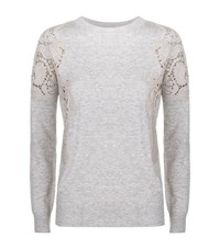 Ted Baker Tae Lace Insert Jumper Female Grey