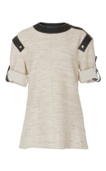 Loewe Leather Inserts Top Ivory