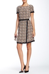 Orla Kiely Silk Buckle Dress Brown