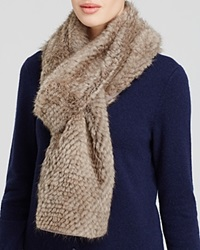 Maximilian Knitted Mink Scarf Silver Blue