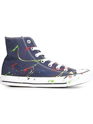 Converse Colour Splatter Detail Sneakers Blue