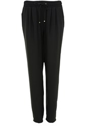 Hallhuber Elasticated Waistband Trousers Black