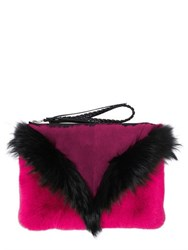 Elena Ghisellini Liu Fox And Rex Rabbit Fur Pouch
