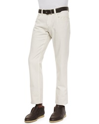 Loro Piana Four Pocket Cotton Stretch Jeans White