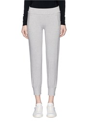 Norma Kamali French Terry Jogging Pants Grey