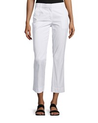 Theory Avla New Chino Slim Fit Pants White