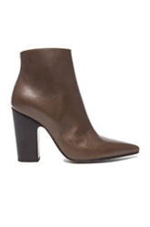 Maison Martin Margiela Maison Margiela Brushed Effect Pointed Toe Leather Booties In Brown