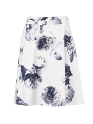 Wallis Petite Monochrome Floral Full Skirt Black And Ivory