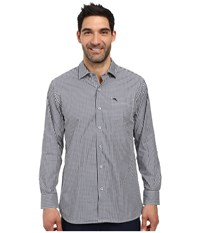 Tommy Bahama Paradise Island Check L S Maritime Men's Long Sleeve Button Up Blue