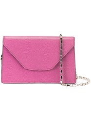 Valextra Mini 'Iside Chain' Crossbody Bag Pink And Purple