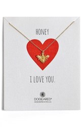 Dogeared 'Honey Bee' Pendant Necklace Nordstrom Exclusive Metallic