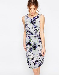 Yumi Uttam Boutique Clematis Jersey Twisted Knot Dress Grey