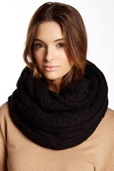Ivanka Trump Double Twisted Cable Knit Infinity Scarf Black