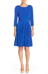 Women's Eliza J Pleated Jersey Fit And Flare Dress