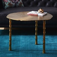 Cb2 Bronze Bamboo Bunching Side Table
