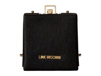 Love Moschino Solid Evening Clutch Black Clutch Handbags