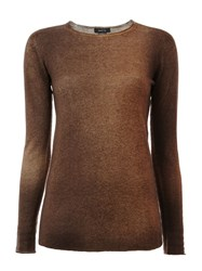 Avant Toi Two Tone Jumper Brown