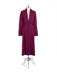 Lord And Taylor Cashmere Long Robe Dark Purple