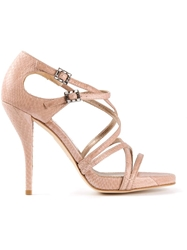 Lanvin Strappy Sandals Pink And Purple