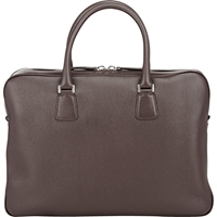 Barneys New York Top Zip Briefcase Brown
