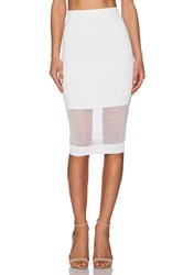 Mcq By Alexander Mcqueen Solid And Sheer Skirt White
