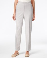 Alfred Dunner Pull On Straight Leg Pants Grey Heather