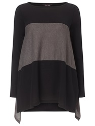 Phase Eight Caroline Colour Block Top Black Mocha