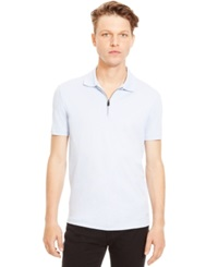 Kenneth Cole Reaction Quarter Zip Polo Moody Blue