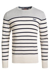 Superdry Drop Breton Crew Jumper Off White