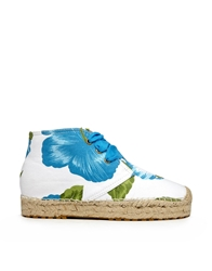 F Troupe Commando Hawaii Chukka Espadrille Flat Boots Blue