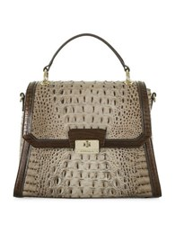 Brahmin Barley Snake Skin Embossed Shoulder Bag