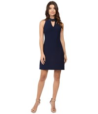 Rsvp Avani Crepe Dress With Collar Detail Midnight Women's Dress Navy