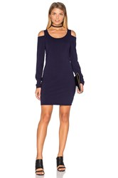 Chaser Cold Shoulder Bodycon Dress Navy