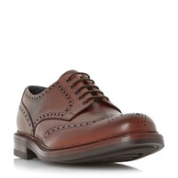 Loake Leat Grain Leather Gibson Brogue Shoes Brown