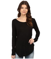 Hurley Staple Classic Long Sleeve Top Black Women's Long Sleeve Pullover
