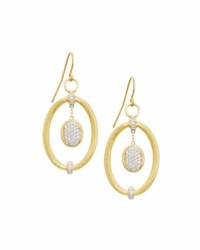 Jude Frances 18K Oval Diamond Drop Earrings
