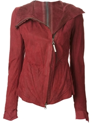 Isaac Sellam Experience Metal Spine Leather Jacket Red