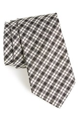 Men's Todd Snyder White Label Plaid Silk Tie Black