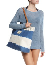 Indian Summer Stripe Tote Bag Denim Blue Seafolly