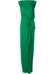 Vionnet Draped Evening Dress Green