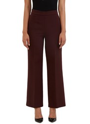 Fendi Wide Leg Flared Pants Burgundy