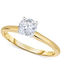 Macy's Certified Diamond Engagement Ring In 14K White Or Yellow Gold 1 Ct. T.W.