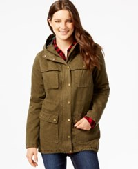 G.H. Bass And Co. Hooded Utility Jacket Moss