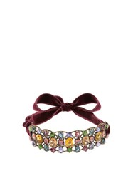 Lanvin Ginger Crystal Embellished Choker Dark Green