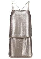 Banana Republic Cocktail Dress Party Dress Super Silver Light Grey
